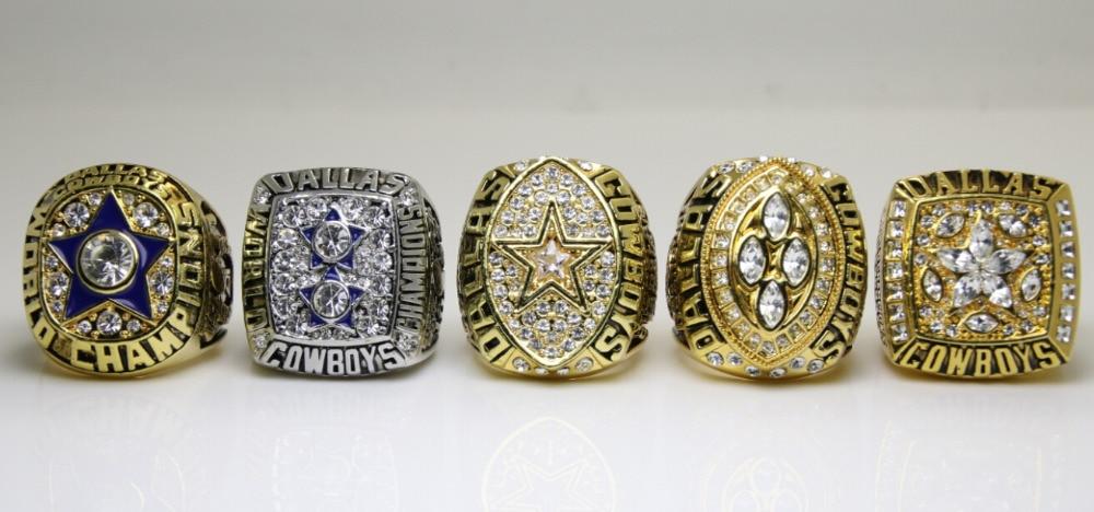 One Set 5 PCS 1971 1977 1992 1993 1995 Dallas Cowboys super bowl rings 11s high one set 5 pcs 1971 1977 1992 1993 1995 dallas cowboys super bowl