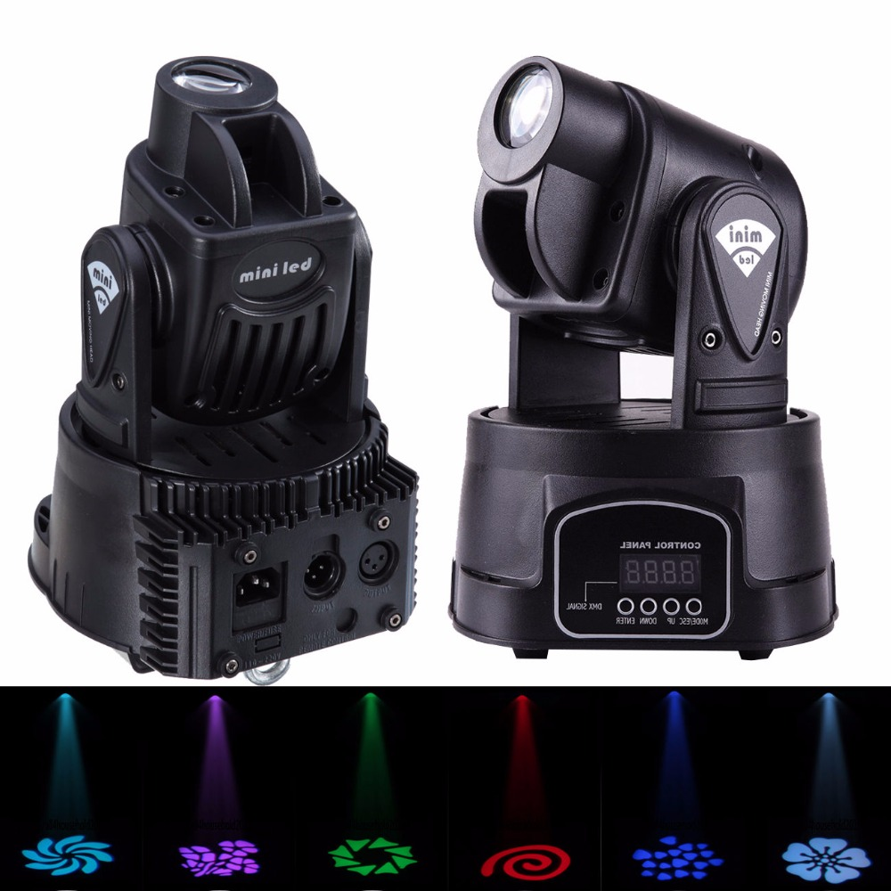 2PCS 15w RBG Moving Head Light Mini Led Gobo 13CH DMX512 Display Menu with Invert Advanced Operating Modes Party Dj Disco Club simulation mini golf course display toy set with golf club ball flag