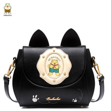 Explosion Models  2016 New Fashion Design Tide Bag Handbag College Wind Cute Bear Girls Casual Shoulder Crossbody Package
