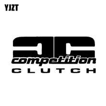 Yjzt 15.2cm * 6.5cm competição embreagem vinil decalque etiqueta do carro preto prata C10-01131
