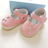 Wholesale New OMN Pink Princess Shoes Non Slip Baby Shoes Girls Toddler Shoes 103 PK