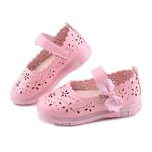 2018 Summer Baby Girl Sandals Bowtie Children Shoes PU Leather Small Kids Sandals Princess Girls Shoes