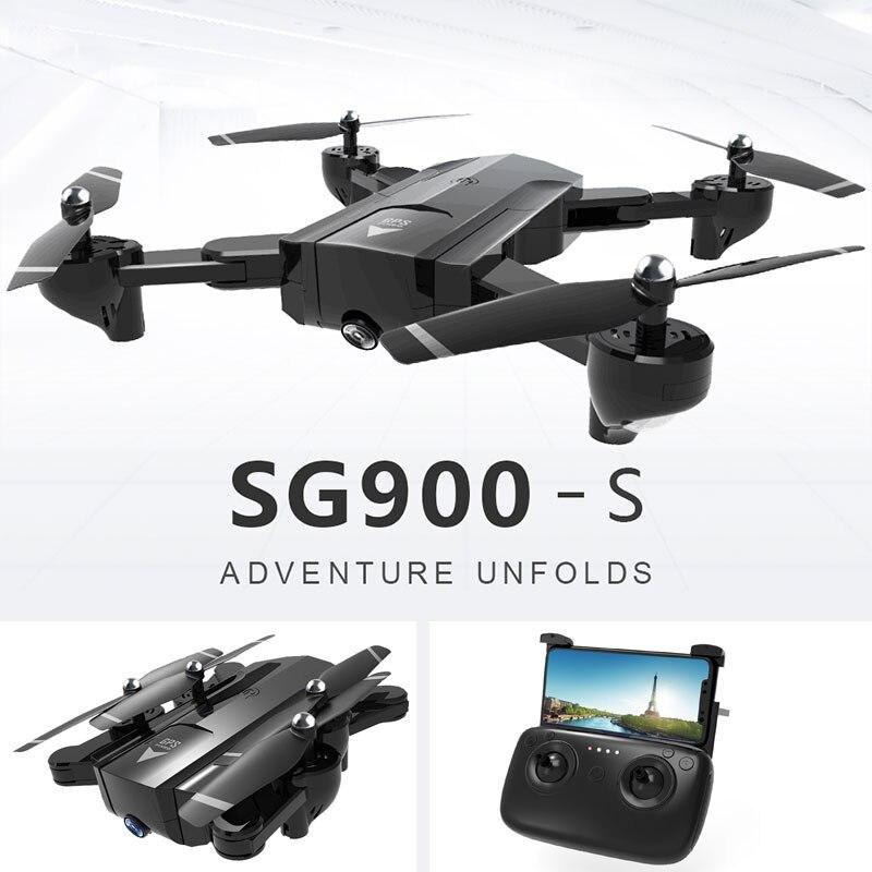 2019 SG900 SG900S RC Quadcopter Mini dron z kamerą HD 720 P 1080 P RC helikopter samolot GPS FPV dron do selfie RC Quadrupter w Helikoptery RC od Zabawki i hobby na  Grupa 1