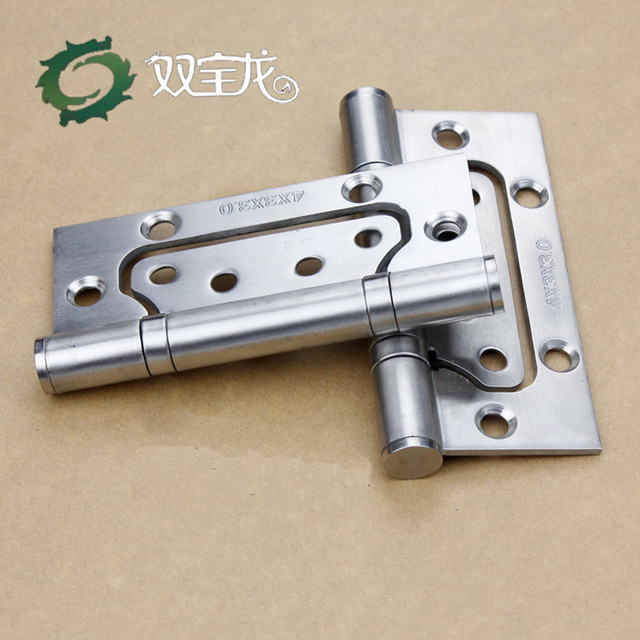 2 Pcs/Lot 4 In Bi Fold Door Mute Hinges Stainless Steel Polished Thick