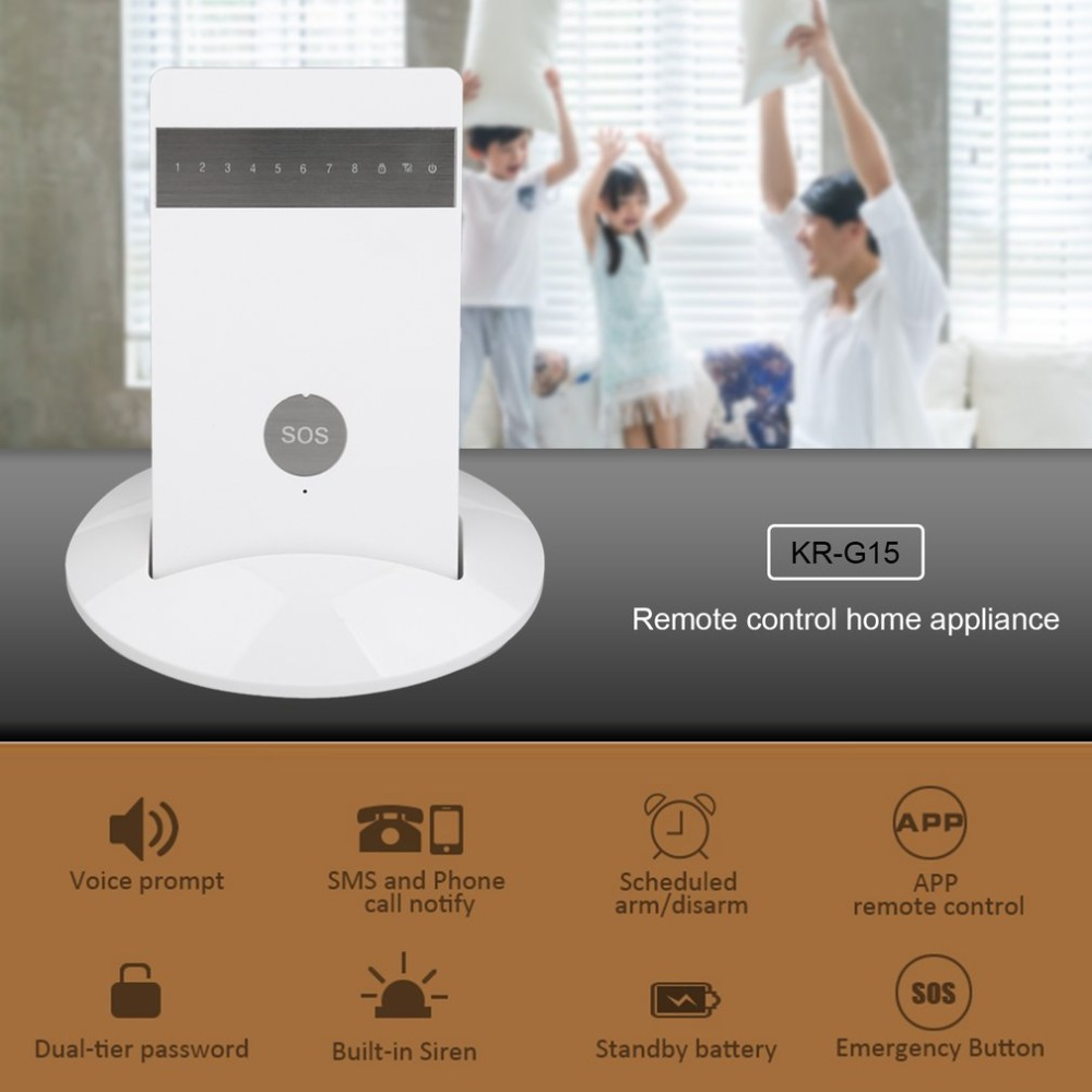 Wireless Alarm Systems Security Home Burglar Alarm System Android ios APP Controlled GSM 850/900/1800/1900MHz free shipping lcd dispaly home wireless gsm alarm system 850 900 1800 1900mhz