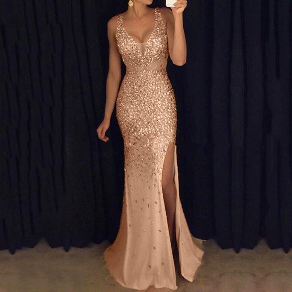 04f9b767c5d Formelle Robes Longue De Soie Mariage Boule Clubwear Mousseline Gold Femmes  Nouveauté Parti D honneur Robe ...