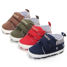 Kid Shoes Baby Boy Girl Striped Canvas Sport Newborn Toddler Prewalker Sneakers Soft