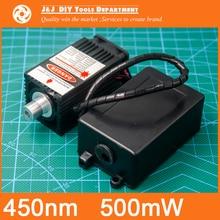 405 нм, 500 МВт 12 В Высокой Мощности Лазерного Модуля имеет TTL, Регулируемый Фокус, Синий Лазерный модуль. DIY Лазерный гравер аксессуаров.