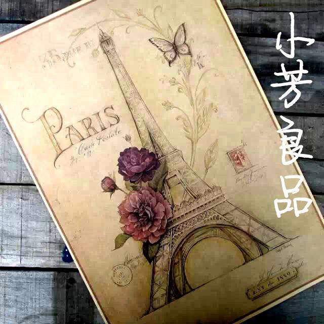 2016 Бросился Наклейки На Стены Бабочка Париж Bloosom Эйфелева Башня Бумаги Плакат Главная Декор Стены Старинные Картины Декоративные