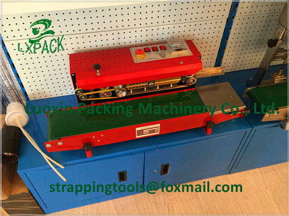 LX-PACK Brand Lowest Factory Price Vertical Horizontal Continuous heating plastic Aluminum foil band bag sealing Date Coding lx pack lowest factory price printer holder coder date barcode coding machine automatic pagingmachine high speed page machine