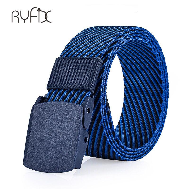 Mens Fashion Casual Canvas Belt Buckle 2-Blue