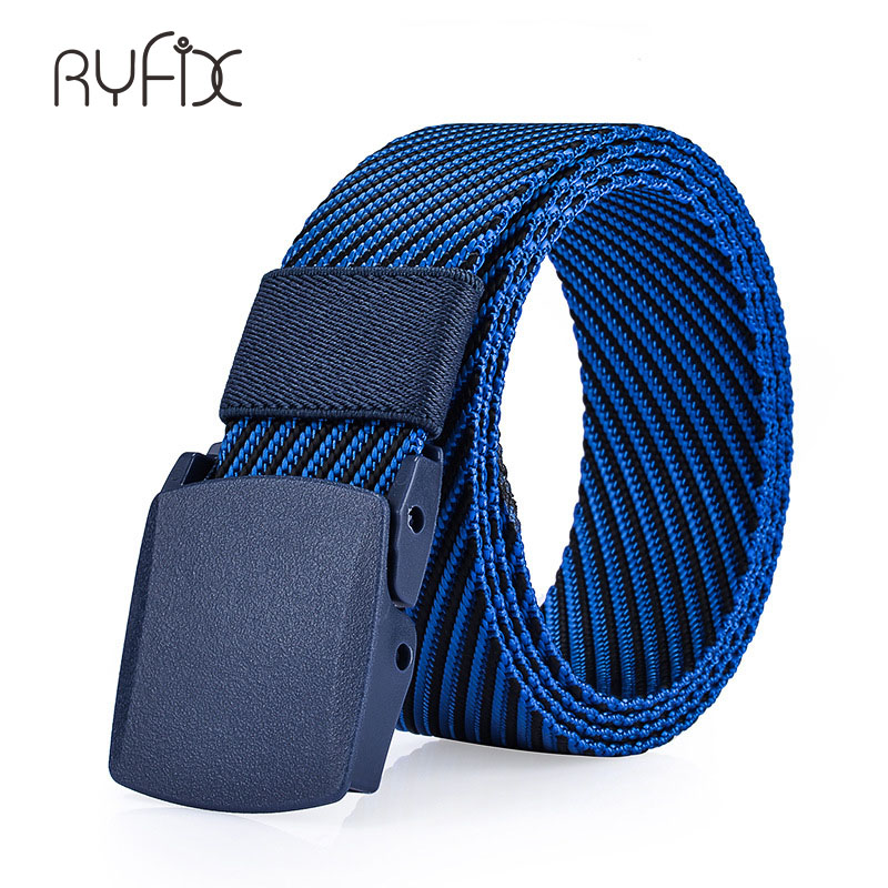 Fashion Newest Luxury Gentleman Belt Without Holes Mens Belt With Stretch Woven Canvas Twill belt for Jeans NS14