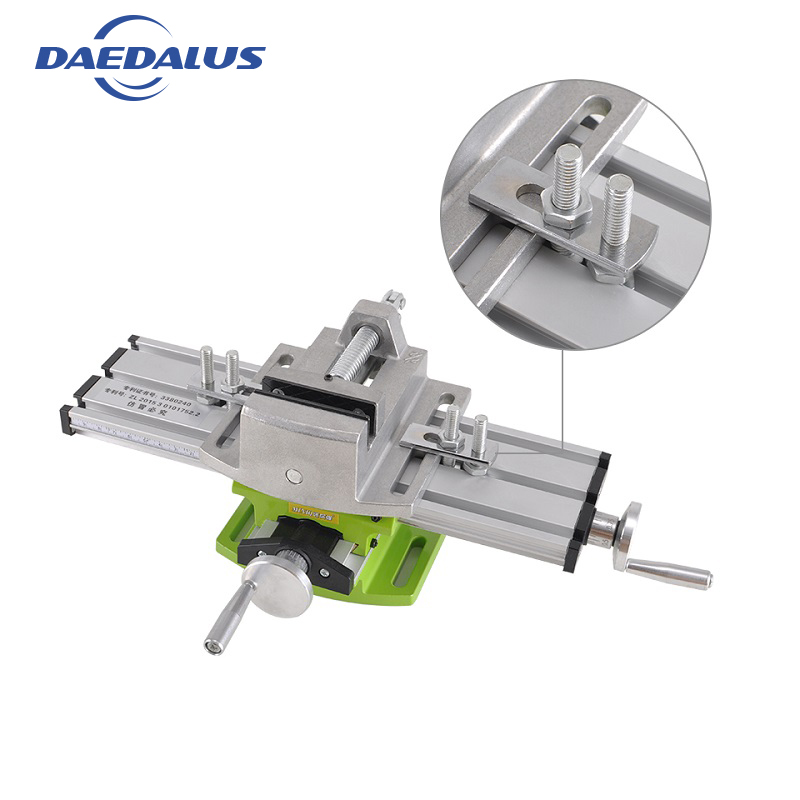 Milling Machine drill table 6300 Worktable Working Cross Bench Vise 2 5 for power tool accessories