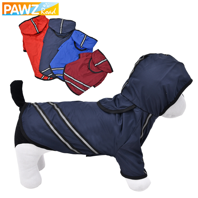 PAWZRoad Dog Raincoat Dog Clothes Pet Clothing Apparel Breathable Pet Clothes Reflective Puppy Waterproof Coat Dog Jacket TShirt