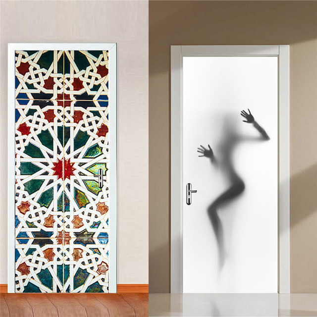 High Quality Sexy Woman Silhouette Beauty Decor Wall Mural Vinyl Art Door Stickers  Waterproof Posters Decoration For Home