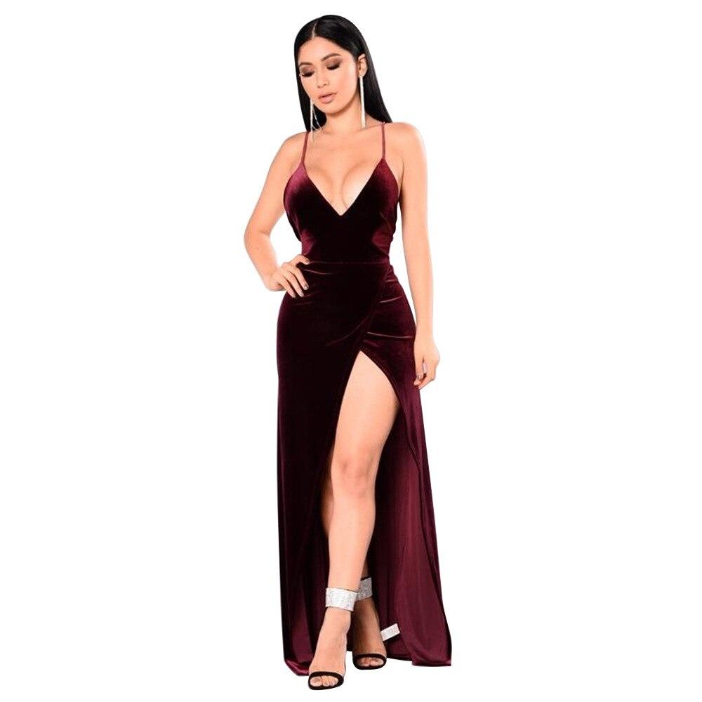Женское платье макси Danjeaner, длинное облегающее платье с глубоким треугольным вырезом в пол, для вечеринок, на весну|maxi dress women|maxi dressdress women | АлиЭкспресс