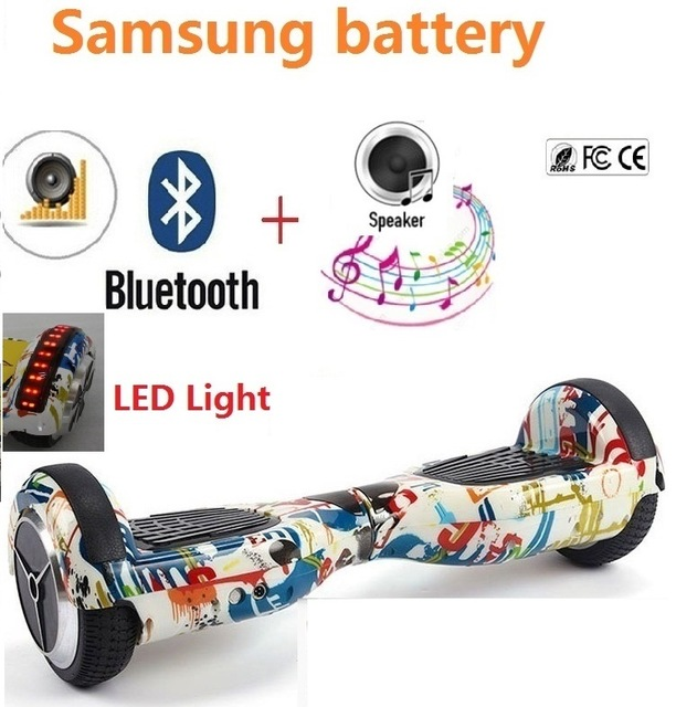 6.5 inch self balancing scooter electric skateboard hoverboard bluetooth 2 wheel smart balance scooter electric skate oxboard new arrive flash wheel children skateboard kids entertainment flash skate scooter outdoor extreme sports hoverboard