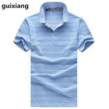 2017 summer new style Men's leisure fashion stripe Polo shirts Men's high quality silk short sleeves Polo shirt size M -6XL