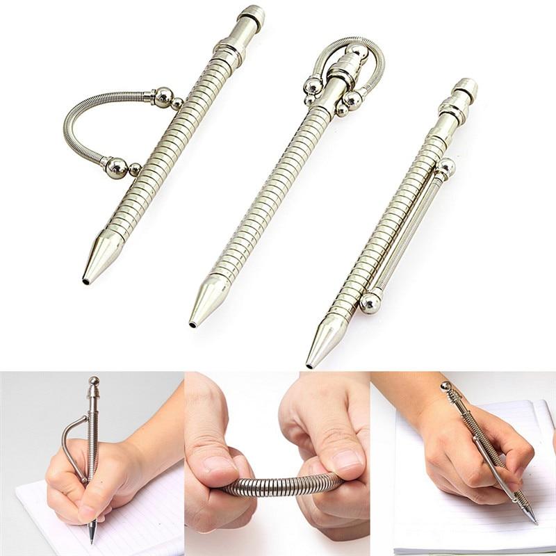 1 Set Anti Stress Bending Fidget Pen Stress Relieve Toys Metal Fidget Pen Spinner Toys Magnetic Pen Funny Office Stress Relief