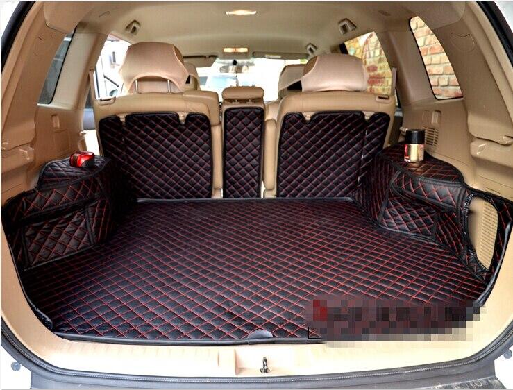 Good mats! Special car trunk mats for Toyota Highlander 5 seats 2014-2009 waterproof boot carpets cargo liner mats,Free shipping