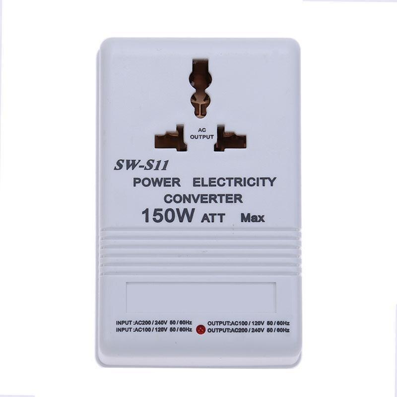 150 W de potencia limitada 220 V a 110 V tanto bidireccional convertidor de voltaje transformador del voltaje del adaptador