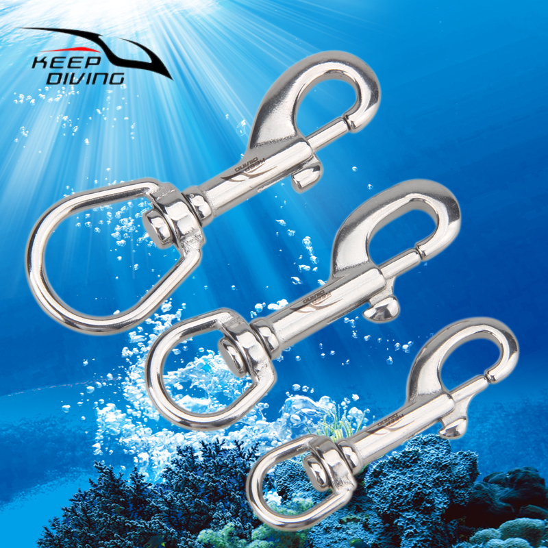 3 Pcs/lot Wholesale 316 Stainless Steel Single Hook Clip Scuba Diving Hook BCD Accessories Water Sport Diving Equipment