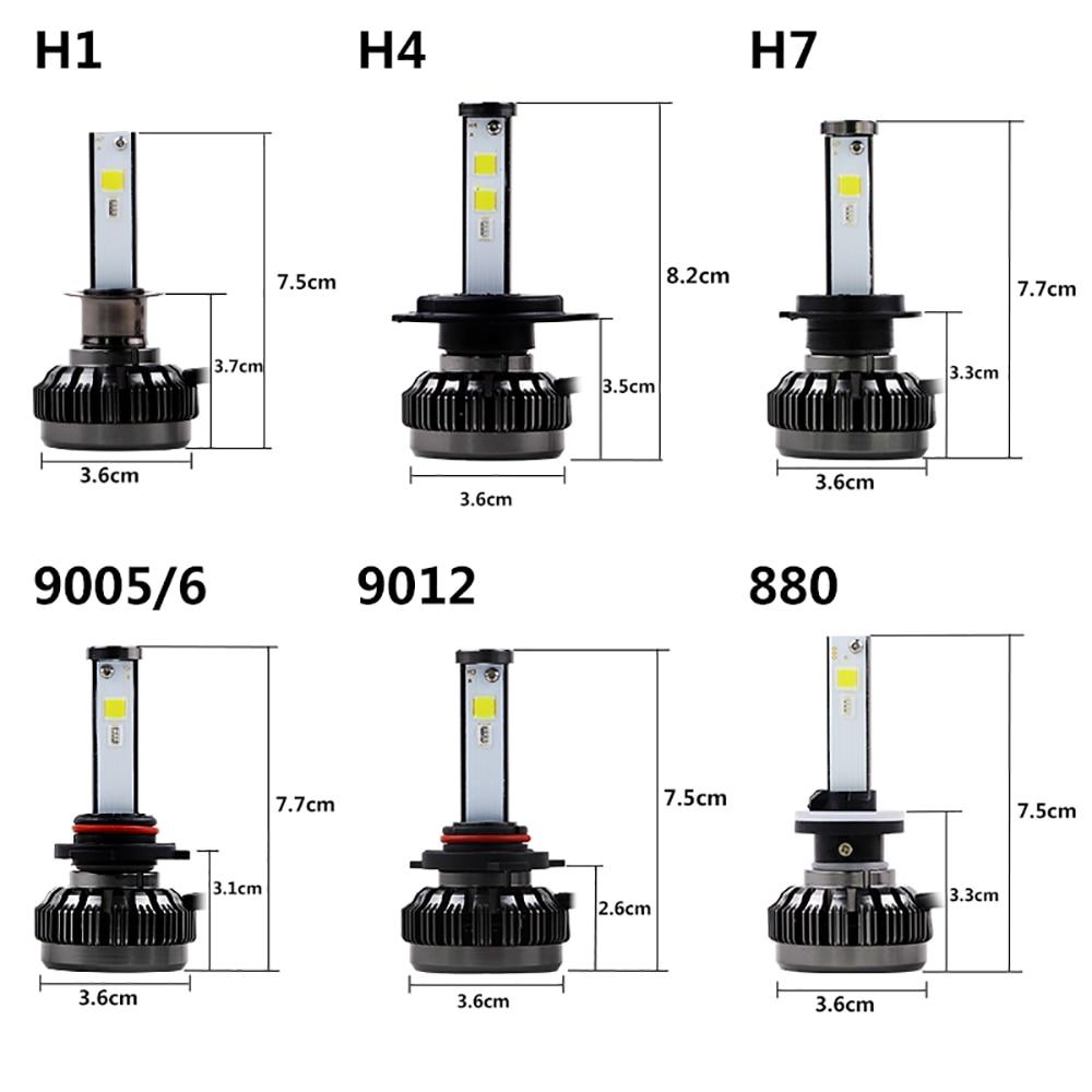 NOVSIGHT H7 LED H4 H11 9006 9005 Auto Koplampen Lampen 100W 20000LM Decoder Auto LED Koplamp Koplampen 6000K 12V 24V - 5