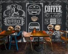 Custom wallpaper 3D retro nostalgic hand-painted blackboard coffee shop background wall living room bedroom