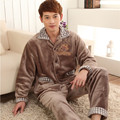 Pajamas For Men Winter Sleepwear Flannel Thickening Men Pyjamas Men's Sleep Lounge Pajama Sets Plus Size 3XL