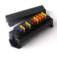 10 way blade fuse box holder with terminal & fuse for car boat marine trike  12v 24v