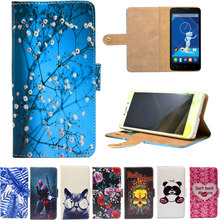PU Leather Phone Case Cartoon Cases Flip Wallet Stand Cover for Haier E50L W6180 W627 W818 i50 2015(China)