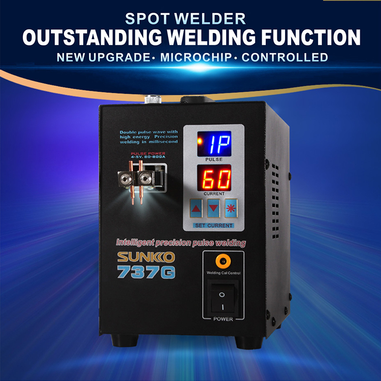 SUNKKO 737G Welding machine fixed pulse welding led light welding machine used 18650 battery pack spot welding 220v/110v