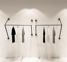 Simple clothing store display rack wall womens