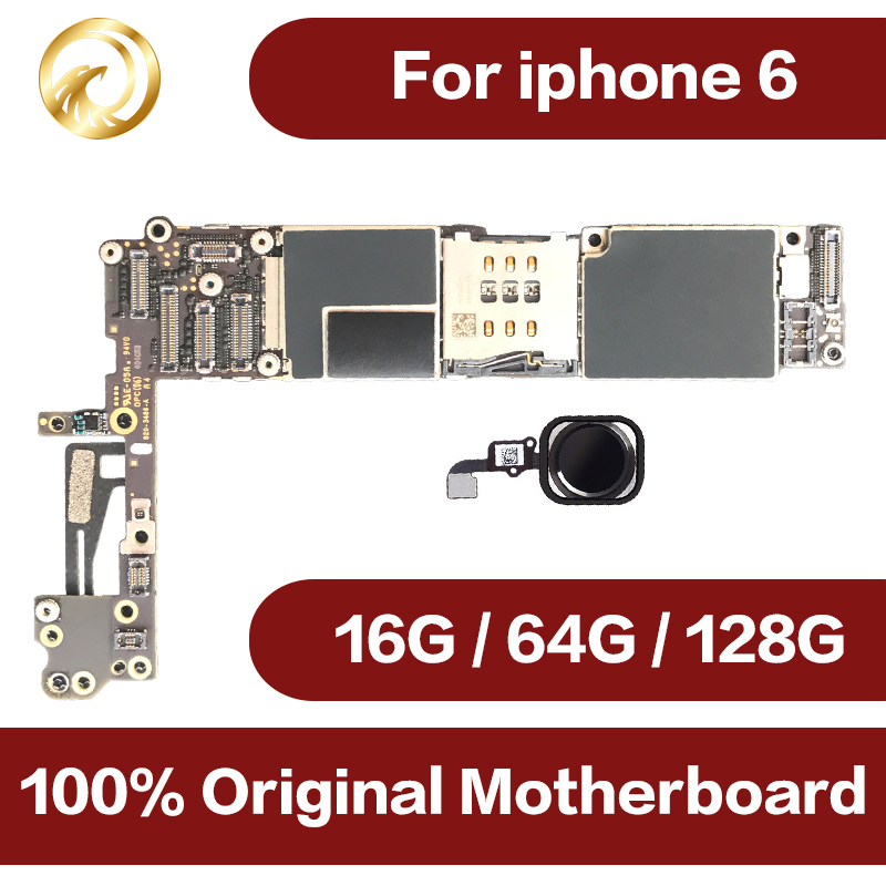 For IPhone 6 4.7inch Motherboard Unlock Mainboard With Touch ID Full Function 100% Original IOS Board