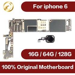 Untuk iPhone 6 4.7 Inch Papan Utama Membuka Mainboard dengan Touch ID Fungsi Penuh 100% Asli IOS Papan