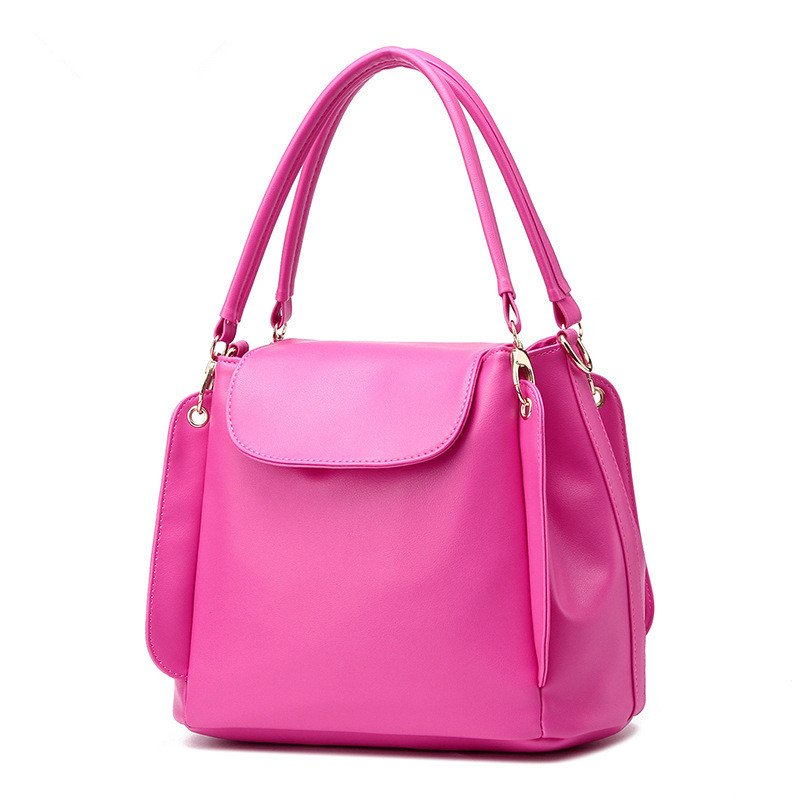 Fashion Soft PU Office Lady Handbag Shoulder Bag Women Tote Bucket Bag Crossbody Messenger Zipper купить