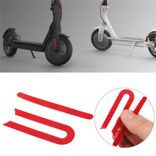 Front And Rear Wheel Tyre Cover Protective Rubber Reflective Stickers For Xiaomi Mijia M365 E-Scooter Skateboard Parts Red(China)