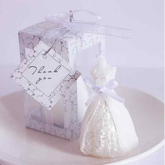10pcs wedding bride dress candle favor wedding gifts for guest wedding souvenirs