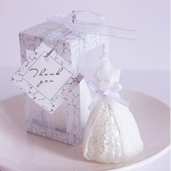 Wedding Gifts To Bride: 10pcs Wedding Bride Dress Candle Favor Wedding Gifts For