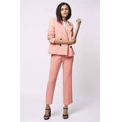 bc4f8b38411 Розовые женские Бизнес Костюмы женские офисные форма дамы брюк Костюмы  Формальные женские смокинг прямые брюки 2