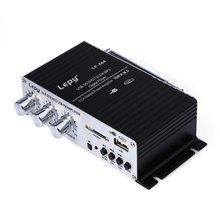 Original Design Amplifier Lepy LP - A68 Portable 12V HiFi Audio Amplifier Support FM SD USB Input With Remote Control