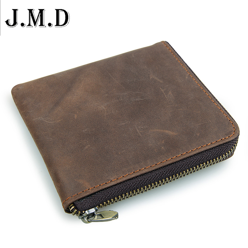 Genuine Leather Coin Purse Leather Zipper Coin Pouch Men Women Coin Wallet  monederos mujer monedas bosca old leather coin purse