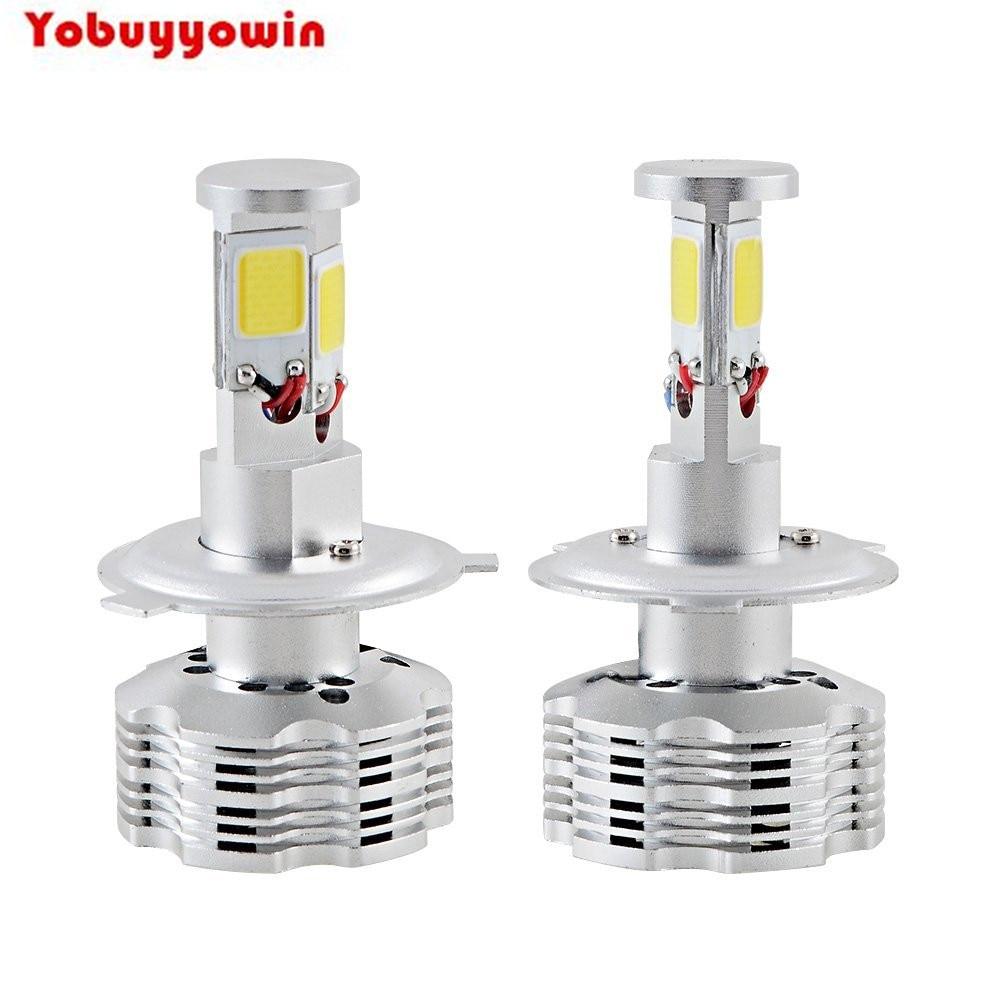 2Pcs H7 PX26D COB LED Headlight 120W 12000LM Car LED Headlights Bulb Head Lamp Fog Driving Head Light Pure White Canbus For Cars