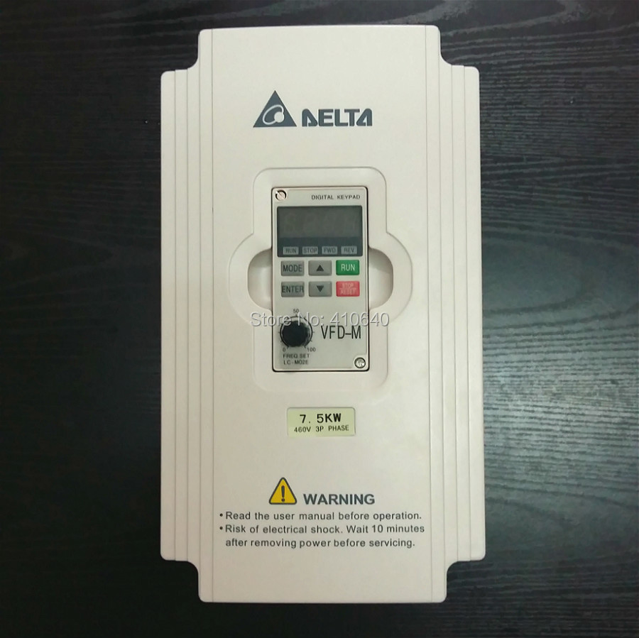 Delta Inverter 7.5KW VFD075M43A 3 Phase 380V to 460V Rated 18 A 100% New 7500W VFD Series Invertor Variable Speed AC Motor Drive 1 phase 220v to 3 phase delta inverter e series vfd002e21a 0 240v 1 6a 600hz 200w 0 25hp 0 2kw new original