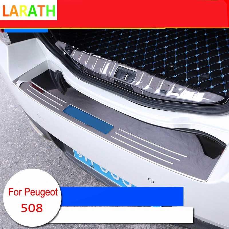 Hohe Qualität Für Peugeot 508 2015 2016 2017 edelstahl innen Außen Kofferraum Stoßstange Led-verschleißplatten-türeinstiegsleisten 6 stile