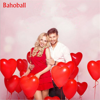 10Pc Red Pink Balloons 10Inch Love Heart Latex Balloons Wedding Helium Balloon Valentines Day Birthday Party Inflatable Balloons