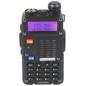 Image 2 - 100% Baofeng UV 5RT المتقدمة اتجاهين راديو مع قابلة للشحن 1800MAh بطارية ليثيوم أيون UHF VHF جهاز الإرسال والاستقبال UV5R راديو Comunicador