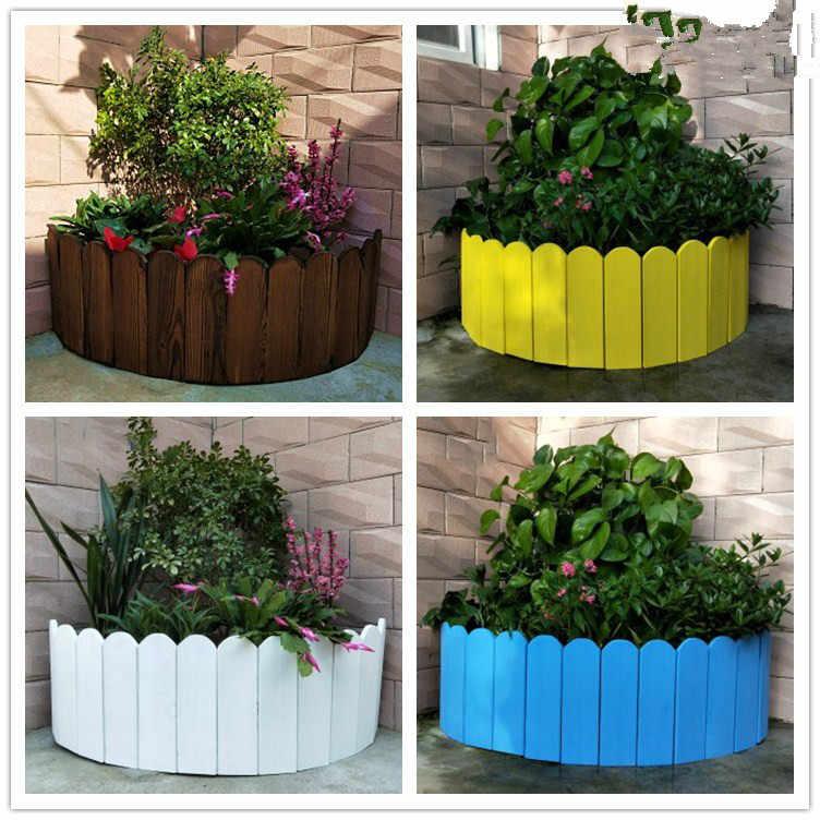 100 20cm Solid Wood Fence Courtyard Indoor Garden Border Fence
