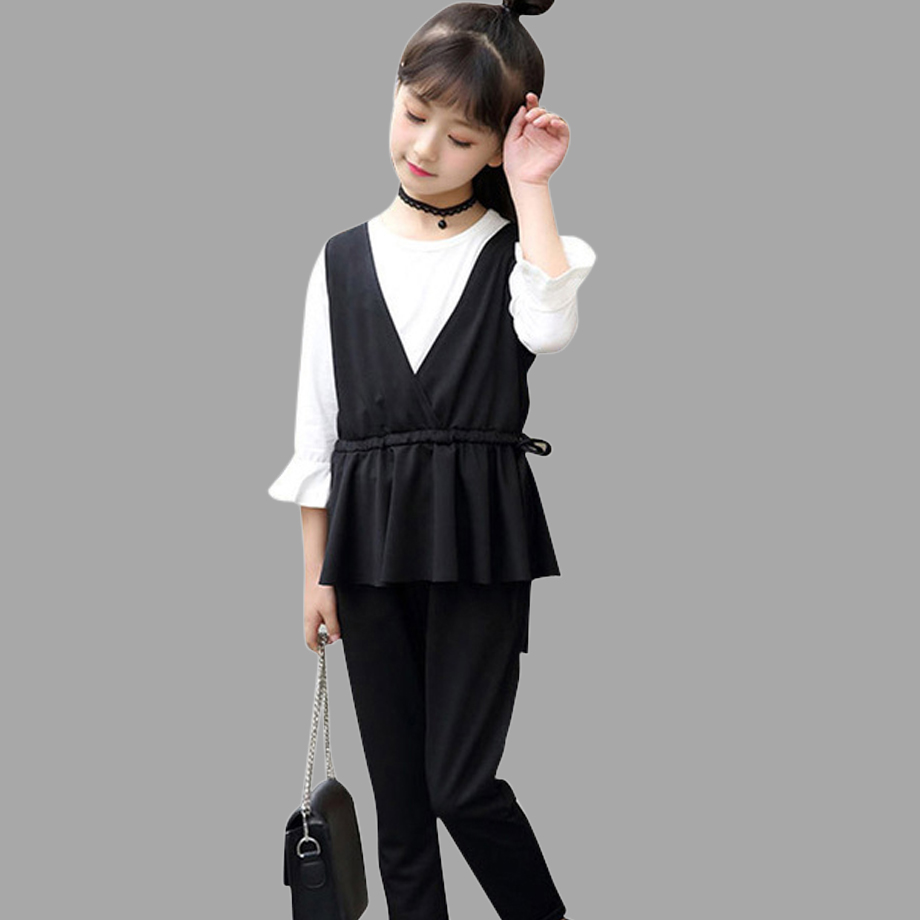 Girls Clothing Set Spring Autumn Kids Suits Teenage Girls Clothes Set 100% Cotton Big Kids Outfits 6 8 10 12 14 Year spring outfits for kids