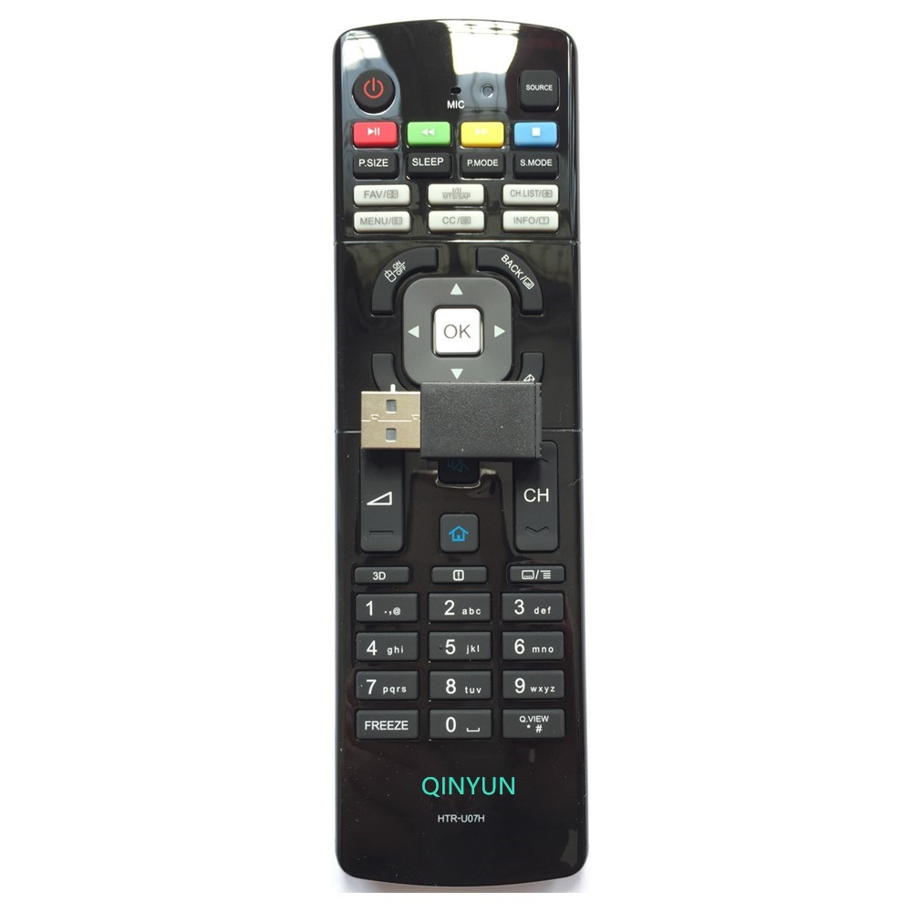 HTR-U07H Remote Control For Haier Smart TV with Android Operating System & Wi-Fi Connectivity LE50B7500U LE55B7500U lit w809 digital tv receiver w wi fi smart remote control black translucent black